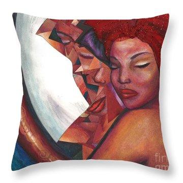 Throw Pillow featuring the mixed media Distorted Image by Alga Washington