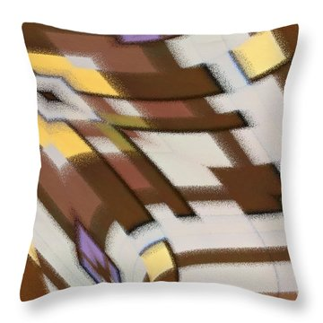 Throw Pillow featuring the digital art Distortion by Wendy Wilton