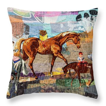Distracted Riding Throw Pillow
