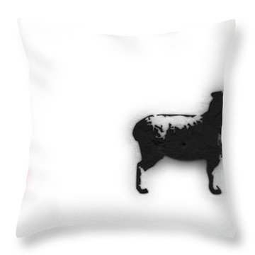 Distraction  Throw Pillow by Pixel Chimp and Dave Merrill