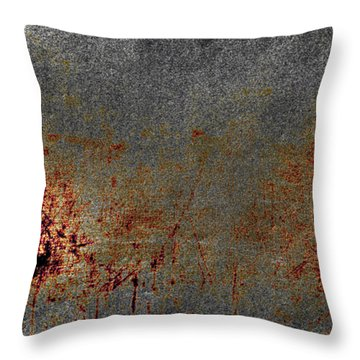 Distressed Scratched  Throw Pillow