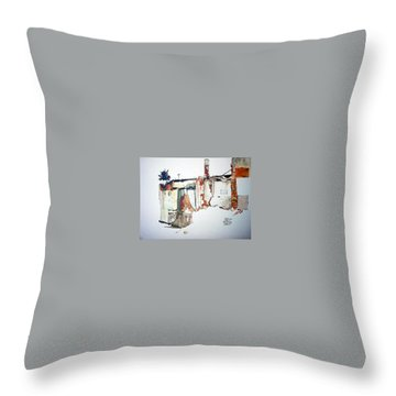 District 6 No 3 Throw Pillow