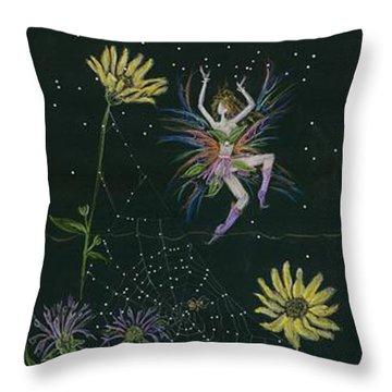Ditchweed Fairy Wild Rose Throw Pillow