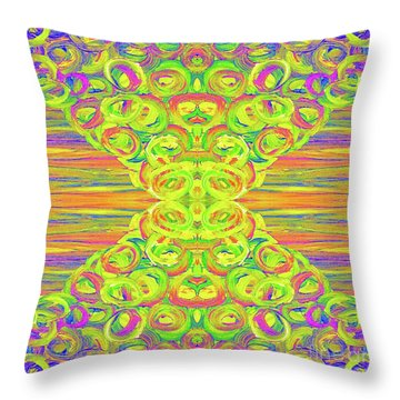 Ditto Throw Pillow by Rachel Hannah