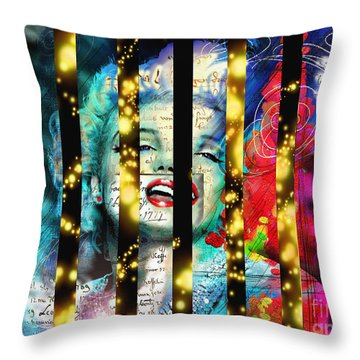 Diva A Star In Stripes Throw Pillow