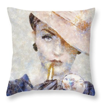 Diva Drama Throw Pillow by Shirley Stalter