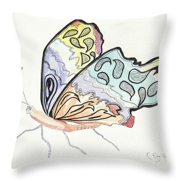 Throw Pillow featuring the painting Diva by Kathryn Riley Parker