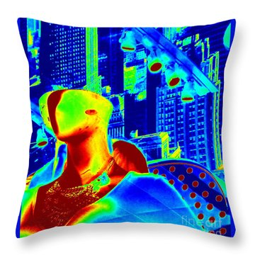 Diva Nyc Throw Pillow