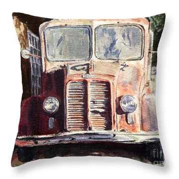 Divco Truck Throw Pillow
