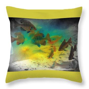 Dive Buddies Throw Pillow