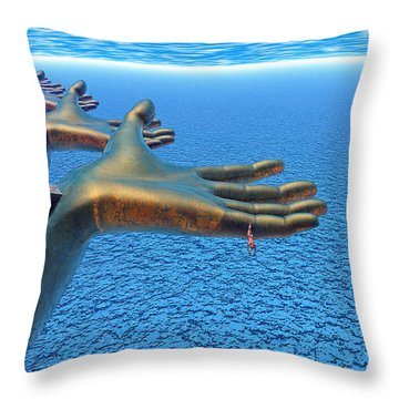 Dive Into The Imagination Throw Pillow