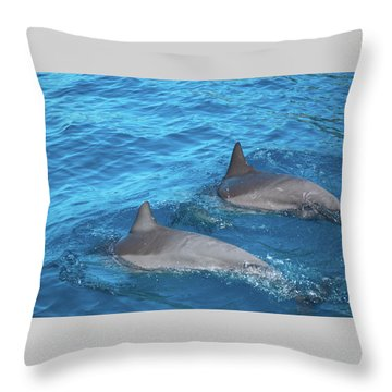 Dive On In Throw Pillow