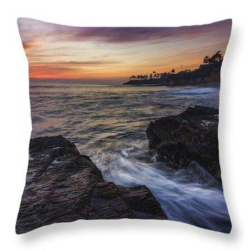 Diver's Cove Sunset Throw Pillow