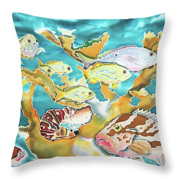 Divers Wet Dream Throw Pillow
