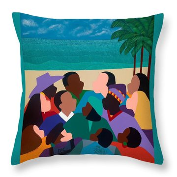 Diversity In Cannes Throw Pillow