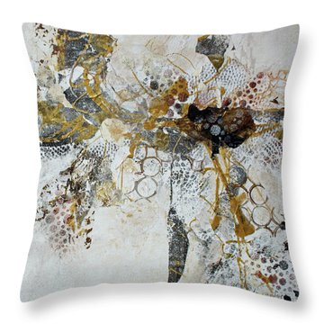 Throw Pillow featuring the painting Diversity by Joanne Smoley