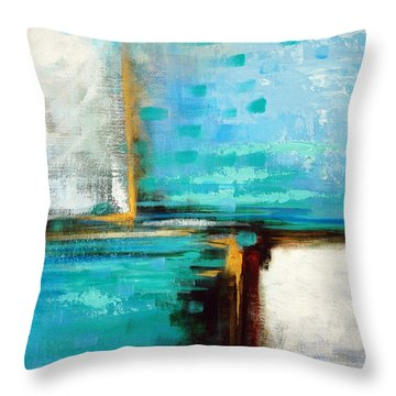 Throw Pillow featuring the painting Divided Loyalties by Suzanne McKee