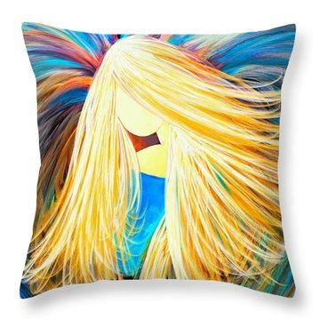 Divine Angel Throw Pillow