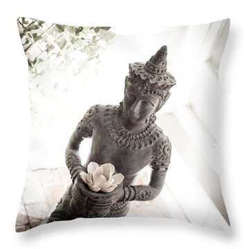 Throw Pillow featuring the photograph Divine Back Light by T Brian Jones