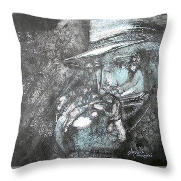 Divine Blues Throw Pillow
