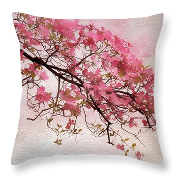 Divine Dogwood  Throw Pillow