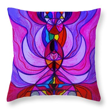Divine Feminine Activation Throw Pillow