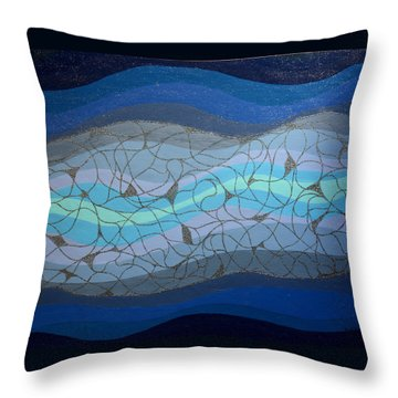 Divine Flow Throw Pillow