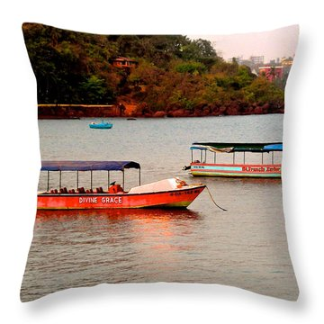Throw Pillow featuring the photograph Divine Grace by Sher Nasser
