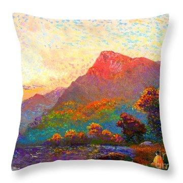 Buddha Meditation, Divine Light Throw Pillow by Jane Small