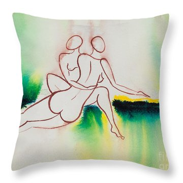 Divine Love Series No. 2090 Throw Pillow by Ilisa Millermoon