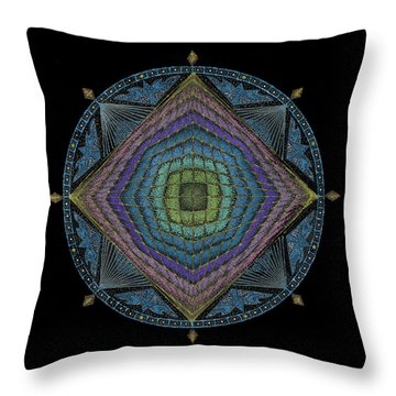 Throw Pillow featuring the painting Divine Masculine Energy by Keiko Katsuta