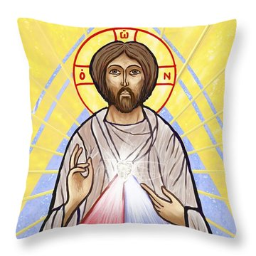 Divine Mercy Icon Style Throw Pillow