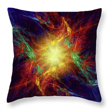 Throw Pillow featuring the digital art Divine Moment by Kenneth Armand Johnson