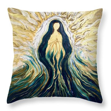 Divine Mother Throw Pillow