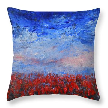 Divine Red Throw Pillow by Jane See