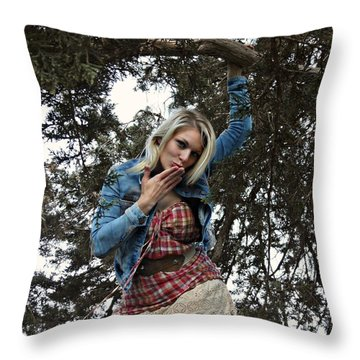 Divinely Dangerouos Throw Pillow