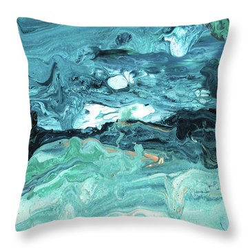 Diving In- Abstract Art By Linda Woods Throw Pillow