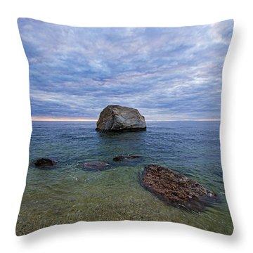 Diving Rock Throw Pillow