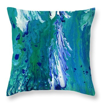 Diving To The Depths Throw Pillow