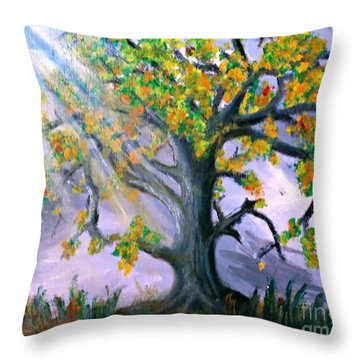 Divinity Inspired 1 Throw Pillow by Leanne Seymour