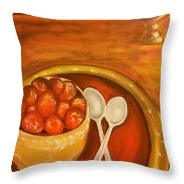 Diwali Sweets Throw Pillow