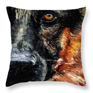 Throw Pillow featuring the painting Dixie by Mary-Lee Sanders