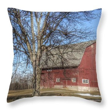 0010 - Dixon Road Red Throw Pillow