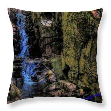 Dixville Notch Flume Brook Throw Pillow