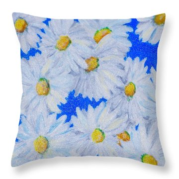 Dizzy Daisies Throw Pillow