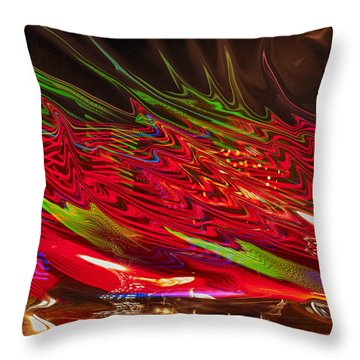 Dizzy Throw Pillow by Linda Constant
