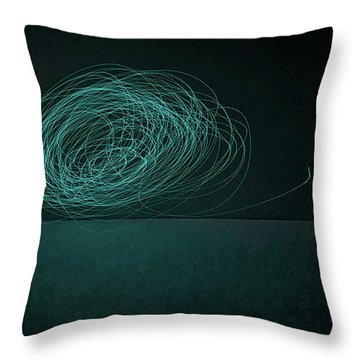 Dizzy Moon Throw Pillow