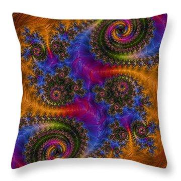 Dizzy Spirals Throw Pillow