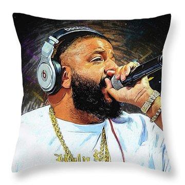 Dj Khaled Throw Pillow