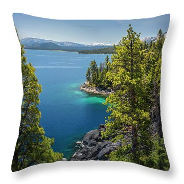 Dl Bliss Lookout By Brad Scott Throw Pillow